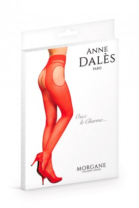 Collants ouvert rouge Morgan